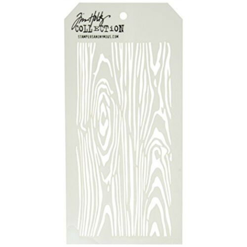 4.125-inch By 8.5-inch Stampers Anonymous Tim Holtz Layered Stencil Woodgrain