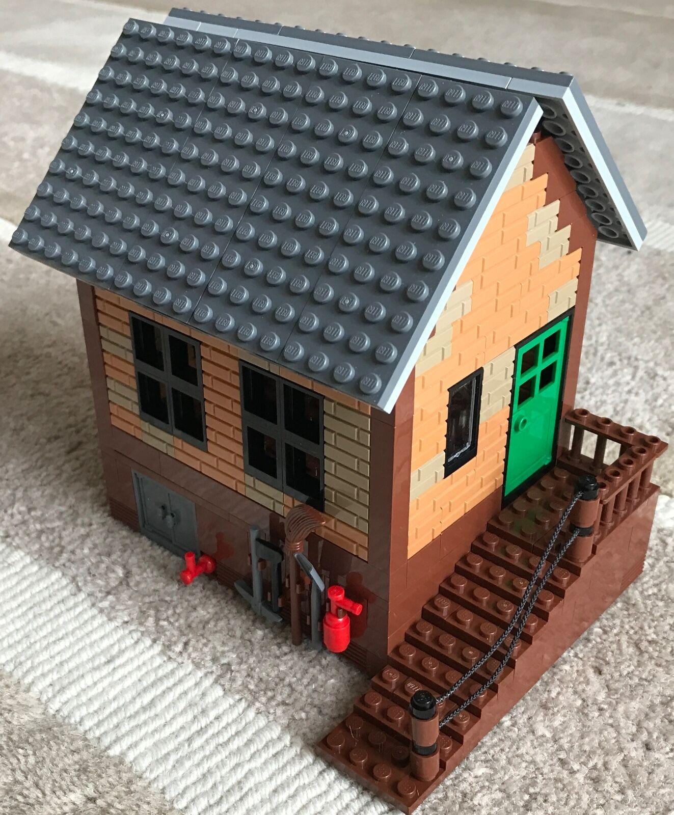 Lego Piezas Originales-inglés Estación de de de Ferrocarril-pequeña casa de ladrillo Madera Escaleras  alta calidad y envío rápido