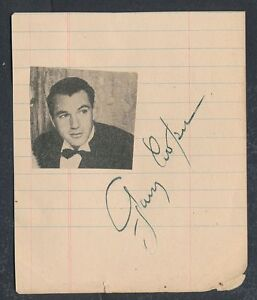 1932 GARY COOPER & GEO BURNS Movie Star Autograph, VINTAGE ...
