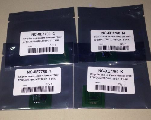 106R01160 ~ 106R01163 4 x Toner Chip for Xero Phaser 7760 7760DN 7760DX 7760GX