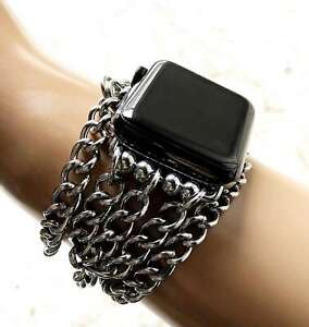 New Wave Pattern Links Chain Bracelet for Apple 38 40 42 44mm Watch All Series