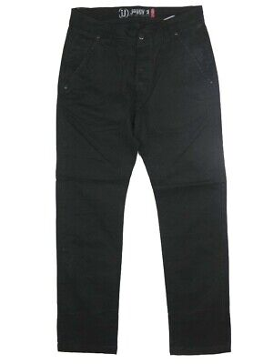 Ambizioso Pantaloni Uomo Jaggy J-c Tg W 32 33 38 It46 48 52 Chino Nero Cotone Stretch Slim