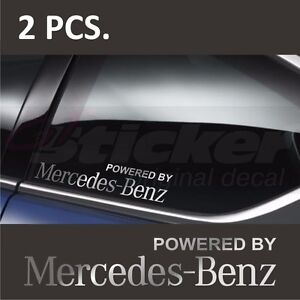 2 pcs powered by mercedes benz window decal sticker for Mercedes benz decal