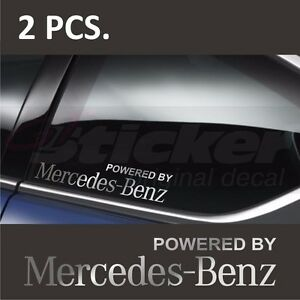 2 pcs powered by mercedes benz window decal sticker for Mercedes benz window sticker