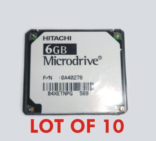 LOT OF 10 Hitachi Microdrive Drive HMS360606D5CF00 6 GB 6GB 0A40278 B4XETNPG 58B