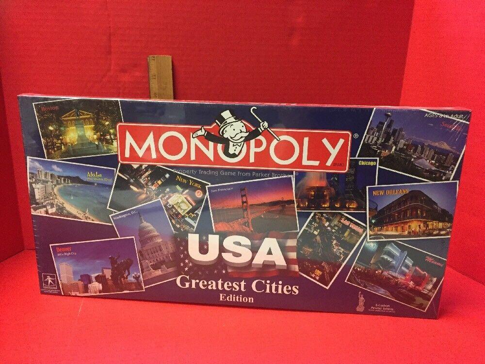 Monopoly USA Greatest Cities Edition New Sealed SMA Hasbro