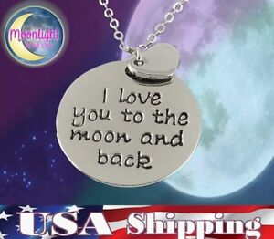 New-I-love-you-to-the-Moon-and-Back-Heart-Silver-Pendant-Necklace