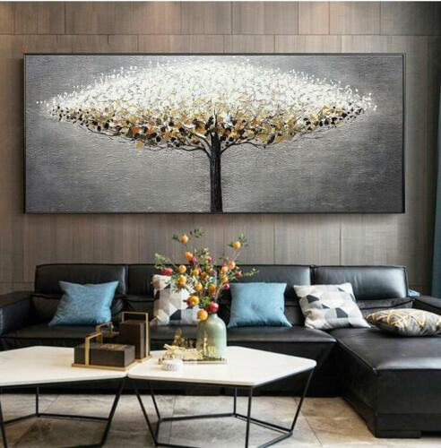 YA1211# Home Decor moderno astratto dipinto ad olio su tela albero 100/% dipinto a mano