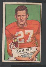 1952 Bowman Small Football Card #41 Claude Hipps-Pittsburg Steelers