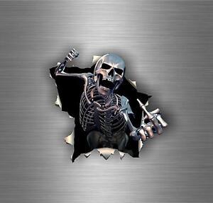 Autocollant-sticker-voiture-tuning-moto-tete-de-mort-skull-biker-motard-bomb