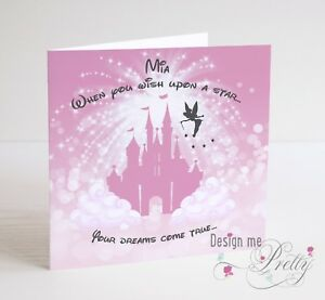 Image Is Loading DISNEY FAIRYTALE Personalised Birthday Card Granddaughter Daughter 3