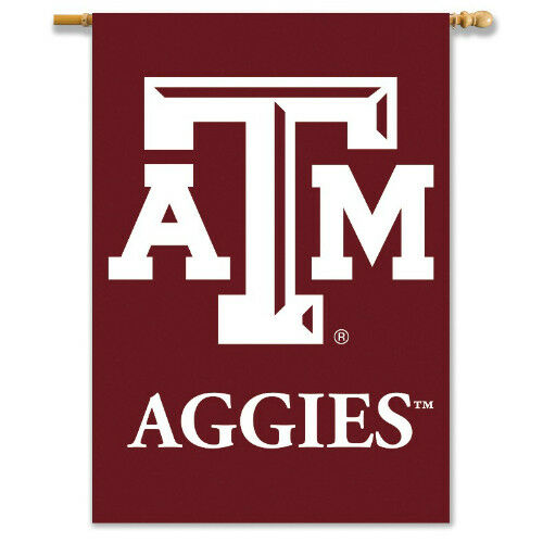 Bsi Products Inc Texas A and M Aggies 2-Sided Banner with Pole Sleeve Banner