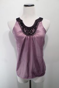 The-Limited-Lavender-Purple-Beaded-Collar-Top-Size-XS