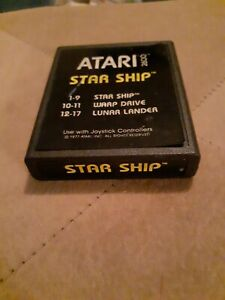 STAR-SHIP-by-Atari-2600-Yellow-Label-CARTRIDGE-ONLY-FREE-SHIPPING
