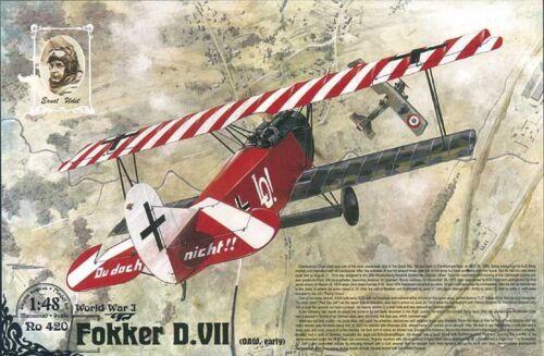 OAW built, early Roden 420-1:48 Fokker D.VII Neu