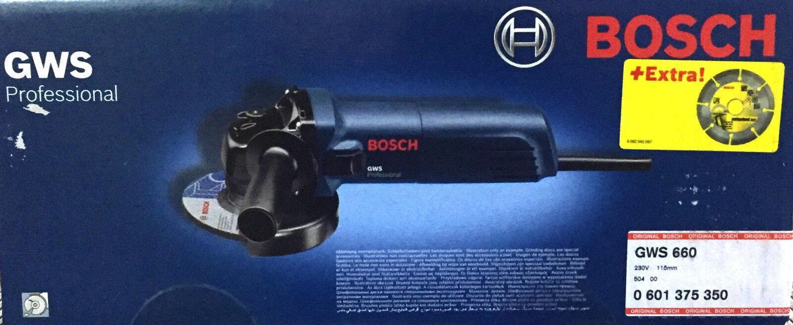 Bosch GWS 660 minismerigliatrice smerigliatrice frullino taglio ferro pietra fle