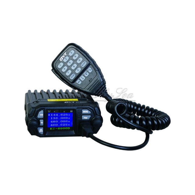 QYT KT-8900D Dual Band Quad Standby 25W VHF UHF Car/Trunk Ham Mobile Radio O1I