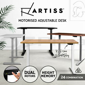Artiss Standing Desk Electric Height Adjustable Sit Stand Office Computer Table