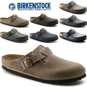 557bca624288 Image is loading BIRKENSTOCK-Boston-Oiled-Natural-Suede-Leather-Clogs-Hard-