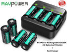 8-Pack RAVPower CR123A Rechargeable Battery with a USB Cable