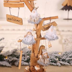 Fj-1Pc-Albero-di-Natale-Appendini-Ornamento-Angelo-Babbo-Festa-Display-Finestra