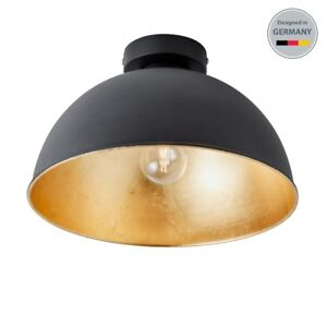Deckenleuchte-Schlafzimmer-Wohnzimmer-Design-Decken-Lampen-Loft-schwarz-gold-LED