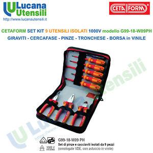 CETAFORM-SET-9-UTENSILI-ISOLATI-1000V-GIRAVITI-CERCAFASE-PINZE-TRONCHESE-BORSA