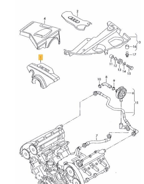 Audi S4 B6 Crankcase Ventilation System