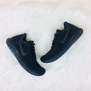terminado homosexual Susceptibles a  Nike Free RN FlyKnit 2017 Black/Gray Running 880844-010 Women's Size 8 -  Rare 884726456149   eBay