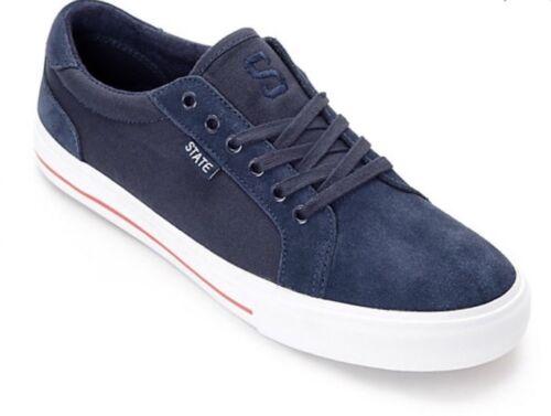 Blanc /& Rouge Chaussures De Skate Homme Taille 10 État Hudson Bleu Marine