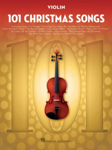 101 Christmas Songs for Violin Instrumental Folio Book NEW 000278644