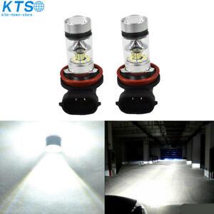2x-6000k-White-H11-H8-100W-LED-Fog-Lights-Bulbs-For-2006-2015-Honda-Civic-US
