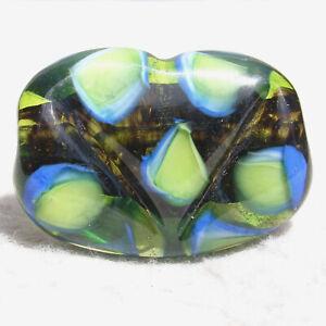 VENDETTA Handmade Art Glass Focal Bead Flaming Fools Lampwork Art Glass SRA
