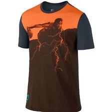 Nike 2XL Men's Dri Fit KD Alter EGO T-Shirt NEW 659612 856 Orange / Grey / Brown