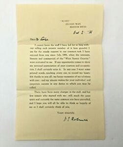 1935-JJ-Robinson-Owner-of-West-Sussex-Gazette-From-1891-Signed-Letter-To-Staff