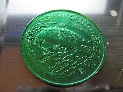 stingray fish 1993 Mardi Gras Doubloon Coin new orleans nola vintage buzzard