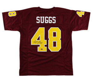 Details about Terrell Suggs Signed Arizona Custom Maroon Jersey