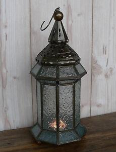 orientalische laterne 8 eckig metall schwarz silber windlicht orient ornament ebay. Black Bedroom Furniture Sets. Home Design Ideas