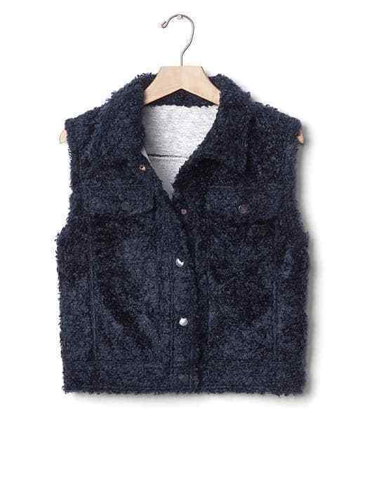 Women's Gap Sherpa Short Vest Size M