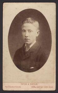 CDV-Carte-de-Visite-Photograph-Harry-A-Young-Victorian-Boy-by-Taylor-amp-Bastain