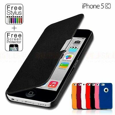 Ultra Slim Flip Leather Case Cover For Apple iPhone 5C