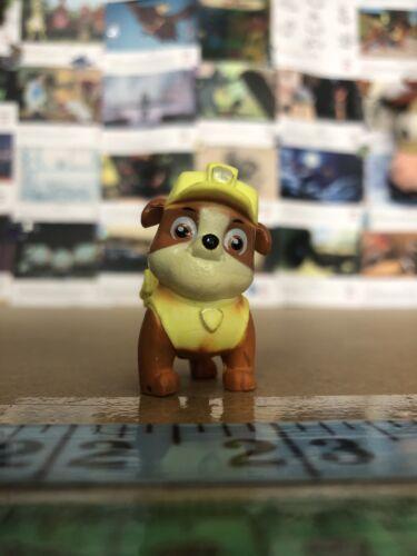 i Paw Patrol Yellow Rubble Dog Figure Toy Mini Small