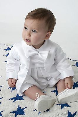 Baby Ragazzi Battesimo Romper Vestito / Battesimo Romper Bianco-mostra Il Titolo Originale Servizio Durevole