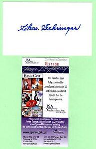 Charlie Gehringer Signed Autograph 3x5 Index Card JSA R31408