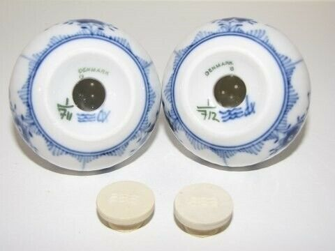 Porcelæn, Musselmalet Halvblonde  Saltbøsse -