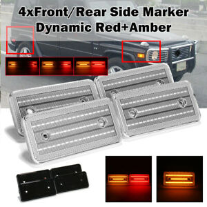 4Pcs Dynamic LED Side Marker Bumper Light For Mercedes W463 G-Class G500