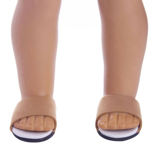 """Hot Handmade Slippers Shoes Fits 18/"""" Inch American Girl Boy Doll Shoes #1"""