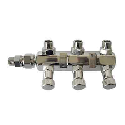 SPARMAX AIRBRUSH MANIFOLD 1/8 BSP MALE TO THREE 1/8 BSP MALE