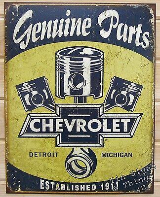 Chevrolet Parts Piston TIN SIGN vintage rustic garage metal decor poster ad 1722
