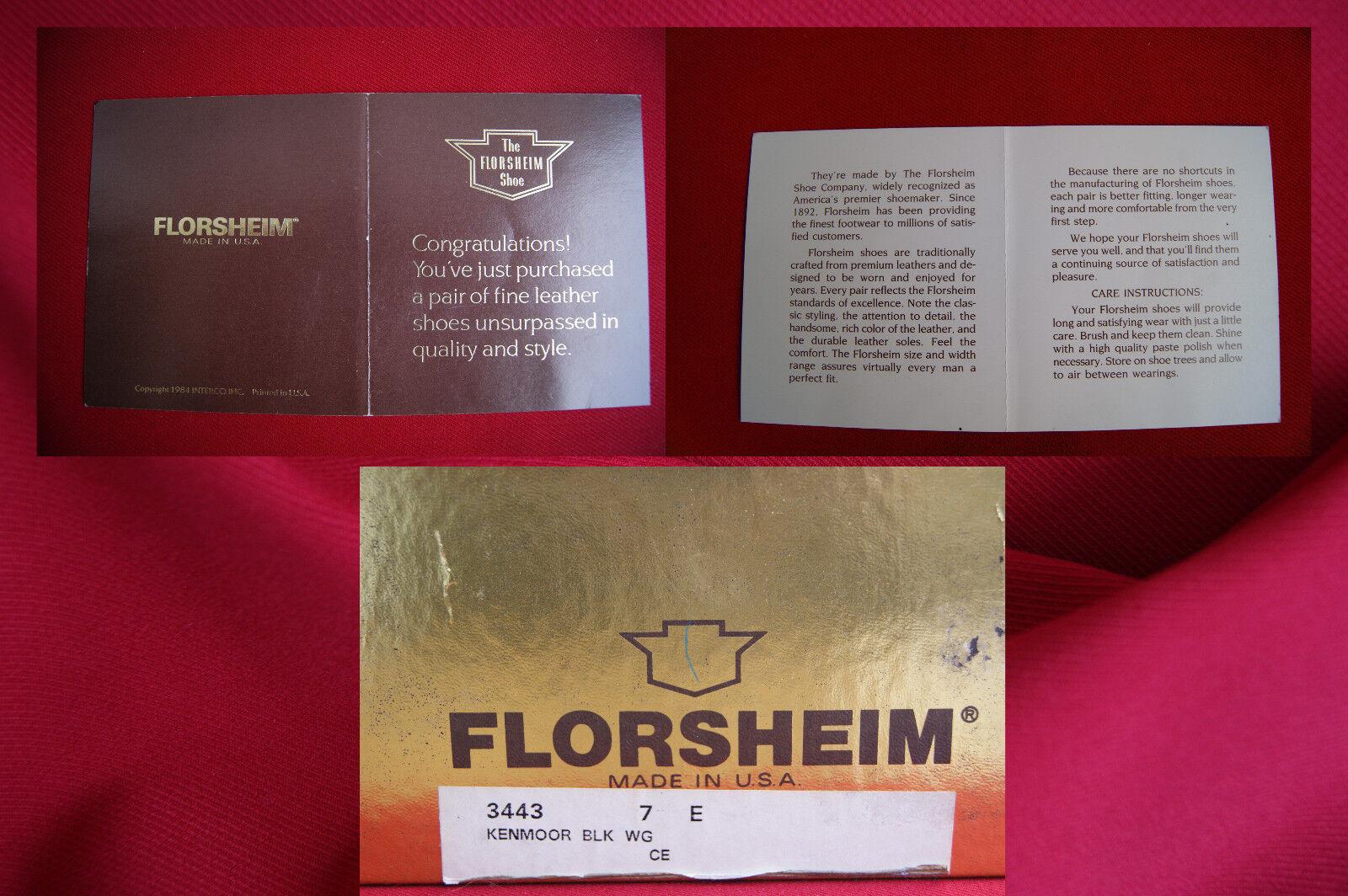 Florsheim Longwing Longwing Longwing US 7 e (40) Kenmoor V-Cleat USA NUOVO assoluta rarità OVP   Acquisti online    Scolaro/Ragazze Scarpa  b88e81